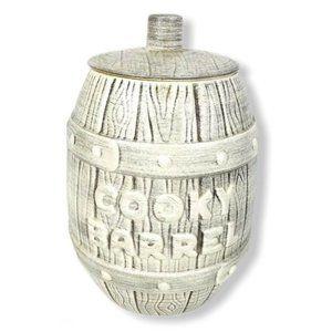 Vintage Royal Haeger Cookie Jar Barrel Rustic